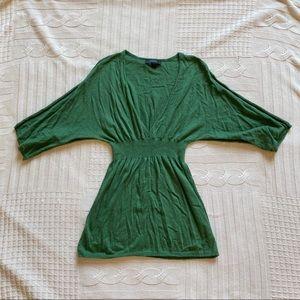 Express Emerald Green Wool Top/Short Skirt Size S